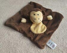 Tesco F & F Brown Monkey chimp baby comforter doudou blankie blanket beige