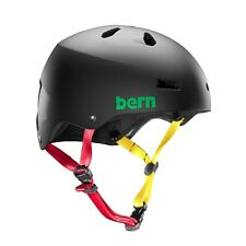 Bern MW2 Men's Macon H2O Cycling Helmet (Matte Black Rasta / XX-Large Size)