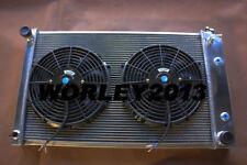 4 rows aluminum radiator + fan for Chevy El Camino 1978-1987