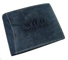 echt Leder Herren Portemonnaie Geldbörse Geldbeutel wild Things Only blau 5460