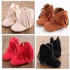 US Baby Toddler Fringe Tassel Boots Baby Infant Boy Girl Soft Soled Winter Shoes
