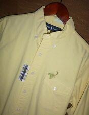 RARE VTG Mens Polo Ralph Lauren Yellow Patchwork Scorpion Button Up Shirt Size M