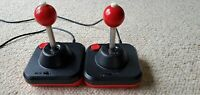 Two Wico Command Control Joysticks Controllers- Red Ball Original