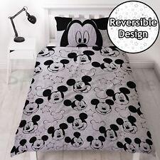 Mickey Mouse Silhoutte Conjunto De Funda Nórdica Individual Reversible Niños