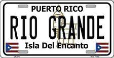 "Rio Grande Puerto Rico Novelty 6"" x 12"" Metal License Plate Auto Tag Sign"