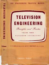 TELEVISION ENGINEERING vol 3 WAVEFORM GENERATION (1957) sine rectangular waves
