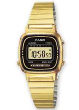 Relojes de pulsera baterías fechas de acero inoxidable dorado