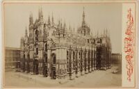 Cattedrale Da Milan Duomo Italia Foto PL17c2n45 Cartolina Foto Vintage Albumina