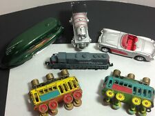 Vtg Junk Drawer Train Car & Vehicle Lot - Cast Iron/Percy/Hot Wheels++