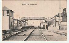 Original vtg pc Rainham Railway Station Essex 1908