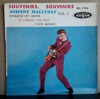 EP Johnny Hallyday Souvenirs Souvenirs 1960 (Variante Gros Point Noir) Centreur