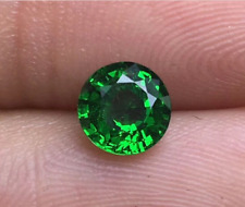 Natural Mined Colombia Green Emerald 9mm 4.16ct Round Cut VVS AAA Loose Gemstone