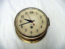 SMITHS ASTRAL MARITIME BRASS CLOCK - 7 JEWEL MECHANICAL MOVEMENT - ENGLAND