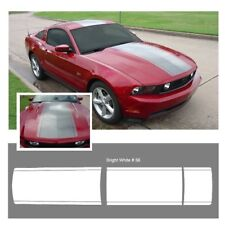 Ford Mustang 2010-2012 Center Stripe Body Graphic Kit - Bright White