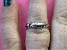 18ct White Gold 4mm 7 Diamonds Wedding Ring Size K