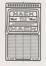 DETAIL MASTER 2562 1/24-1/25 MACK TRUCK GRILLE DETAIL SET (PHOTO ETCH)