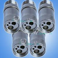 5pcs Dental Metal 4Hole Handpiece to 2-Hole Chair Unit Tubing Adaptor B2 to M4