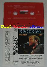 MC JOE COCKER Greatest hits 1 stampa italy CUBE RECORDS CUBK 78960 cd lp dvd vhs