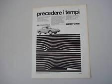 advertising Pubblicità 1967 FIAT 850 CONVERTIB. BERTONE