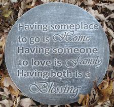 Plaster Concrete Home, Family, Blessings plaque plastic mold mould