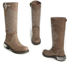 DONALD PLINER Studded MAC Boot riding Equestrian Biker Moto leather 6.5 NEW $498
