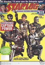 Starlog #129 Captain Power Robocop Wil Wheaton Starman Superman Star Trek