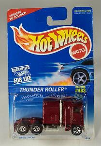 "Hot Wheels Thunder Roller Kenworth K100 Aerodyne 3"" Diecast Scale Model"