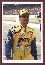 Ernie Irvin Stock Car Hall of Fame, Daytona 500 Winner Signed 4x6 Photo C15925