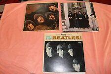 THE BEATLES - LOT OF 3 DIFFERENT ORIGINAL LP'S AS SHOWN (READ DESCRIPTION)