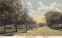 Pittsfield Maine~South Main Street Homes~Rutted Dirt Road~1910 Nutter Postcard