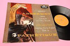 TCHAIKOVSKY ANSERMET LP SYMPHONY 6 PATETIQUE UK DECCA ORANGE NM LXT 5306