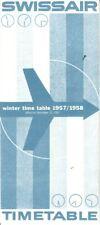Swissair timetable 1957/12/15 North American