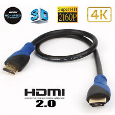 2pcs 1.5FT Short HDMI Cable Ultra HD 4K 3D 2160p HDR Compatible 2.1 2.0 a b 1.4