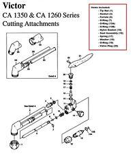 Victor CA1350 & CA1260 Cutting Torch Large Rebuild/Repair Parts Kit, 0390-0009