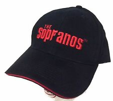 The Sopranos Classic Gun Name Logo Fitted Baseball Hat Cap S/M New Official HBO