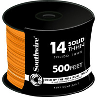 Southwire 500 Ft. 14 Gauge Black Solid THHN CU Single Conductor Electrical Wire