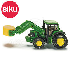 SIKU NO.1379 1:87 Scale JOHN DEERE TRACTOR WITH BALE GRIPPER Dicast Model / Toy