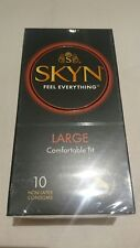 Skyn LARGE Non Latex  Free Condoms 10 pack fastp&p comfortable fit POLYISOPRENE