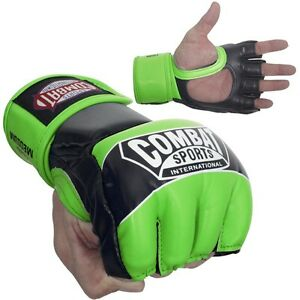 Combat Sports Pro Style MMA Training Competition Gloves - Neon Green