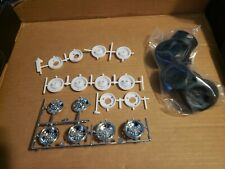 Chrome Rims Wheels Tires Set Lot Peterbilt 359  Rig Semi Tractor 1/25 Truck