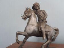 Cast Metal Buffalo Bill Horse Cowboy Western Figurine Vintage Antique 1900's