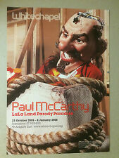 PAUL McCARTHY, exhibition poster, Whitechapel gallery 2006