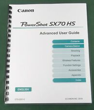 Canon PowerShot SX70 HS Instruction Manual: Full Color & Protective Covers!