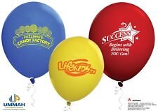"100 Personalized 9"" Standard Latex Balloons Printed With Your Logo Or Message"