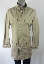Three quarter mens casual khaki unlined jacket Large