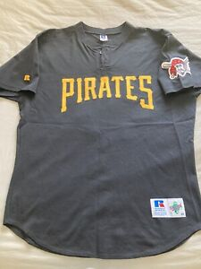 2001 Pittsburgh Pirates Game Used Worn Autographed Auto Jersey Steve Decker