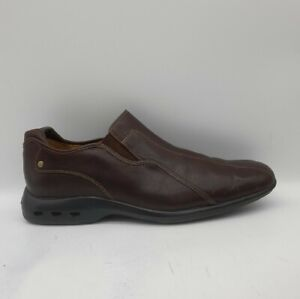 Men's COLE HAAN Size 10M UK 11 US Brown Leather Loafers/Shoes Slip On In E U C