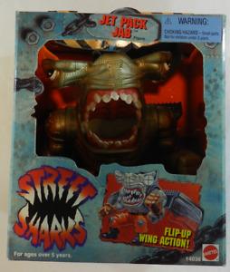 Vintage 1994 Mattel Street Sharks Jet Pack Jab Action Figure MIB