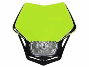Mascherina portafaro moto cross enduro V-Face Racetech giallo fluo RTech Alogena