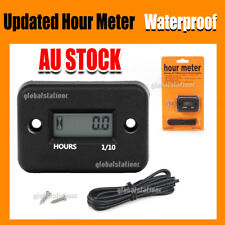 Waterproof Digital Hour Meter for Motorcycle ATV Snowmobile Boat Dirt Gas Engine